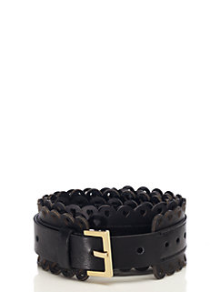 key pieces heart perforated belt by kate spade new york