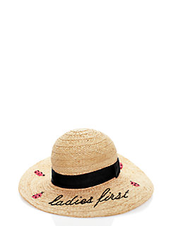ladies first straw sun hat by kate spade new york
