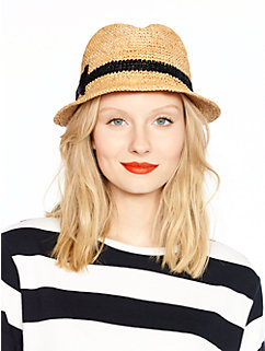 packable straw fedora by kate spade new york