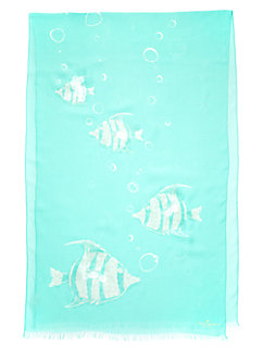 dive right in embellished fish bubble scarf by kate spade new york