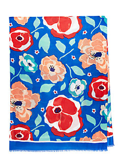 multi floral scarf by kate spade new york