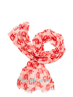 striped fish scarf by kate spade new york