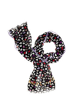 fancy meeting you dancing hearts scarf by kate spade new york