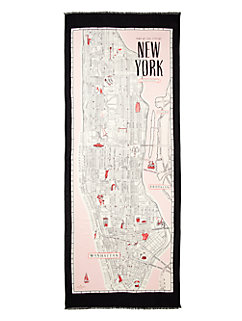 detailed new york map scarf by kate spade new york