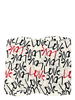 fancy meeting you love print infinity scarf by kate spade new york