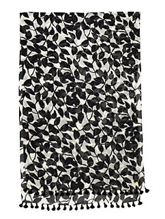 garden leaves scarf by kate spade new york