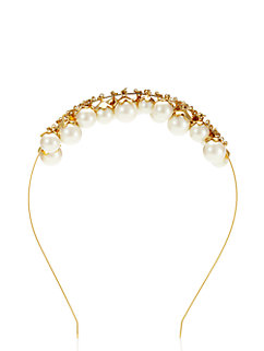 fancy meeting you petaled pearls headband by kate spade new york