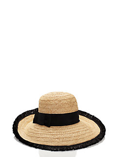 take a walk on the wild side fringed sun hat by kate spade new york