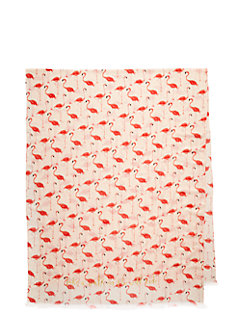 take a walk on the wild side flamingo scarf by kate spade new york