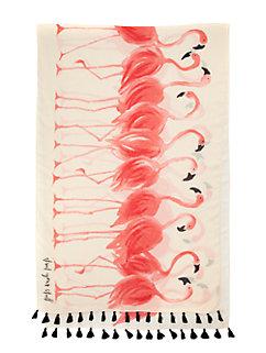 take a walk on the wild side flamingo pom pom scarf by kate spade new york