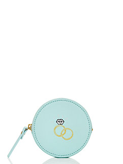 wedding belles engagement ring coin purse by kate spade new york