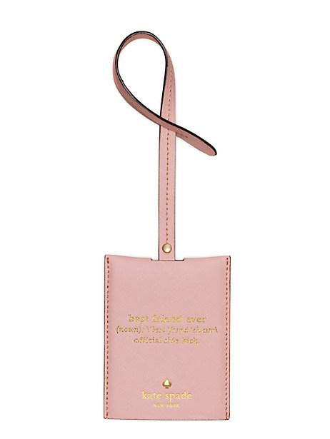 Kate Spade Wedding Belles Luggage Tag, Rosy Dawn
