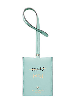 wedding belles luggage tag by kate spade new york