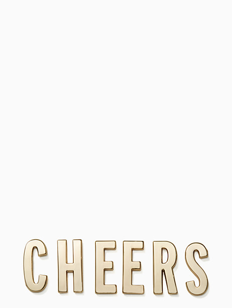 Kate Spade Ashe Place Cheers Sticker Set, Gold