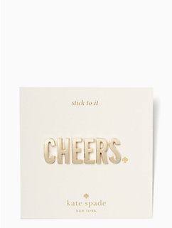 ashe place cheers sticker set by kate spade new york