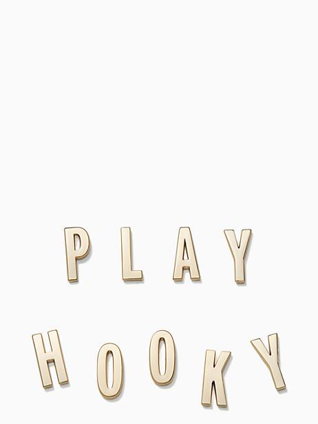 Kate Spade Ashe Place Play Hooky Sticker Set, Gold