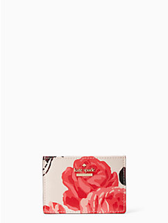 cameron street roses card holder by kate spade new york