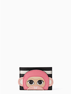 rambling roses monkey card case by kate spade new york