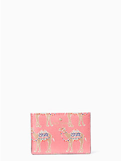 spice things up camel march card holder by kate spade new york