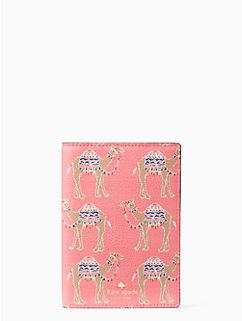 spice things up camel march passport holder by kate spade new york