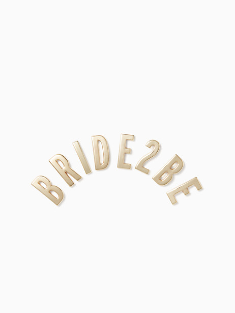 Kate Spade Ashe Place Bride 2 Be Sticker, Gold