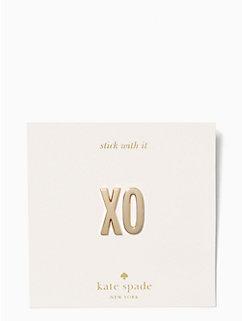 ashe place xo sticker set by kate spade new york
