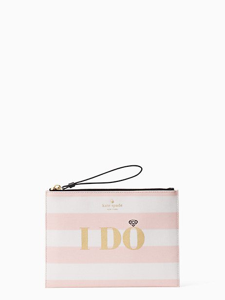 wedding belles i do i did medium bella pouch by kate spade new york
