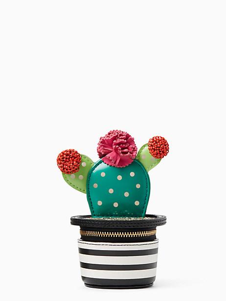 Kate Spade scenic route 3D cactus coin purse, Black