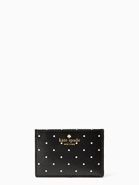 Kate Spade Brooks Drive Card Holder, Black/Cream