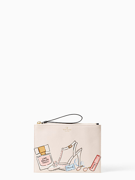 Kate Spade Wedding Belles This Is The Life Medium Bella Pouch