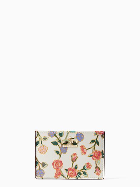 cameron street ditsy blossom card holder by kate spade new york