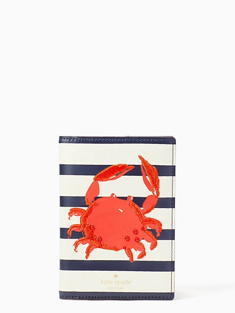 shore thing crab passport holder by kate spade new york