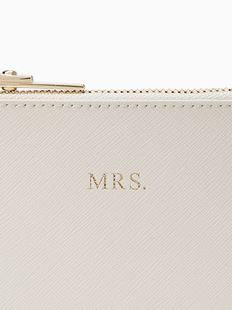 wedding belles mrs small pouch by kate spade new york
