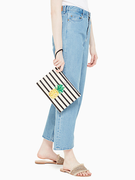 by the pool pineapple medium bella pouch by kate spade new york