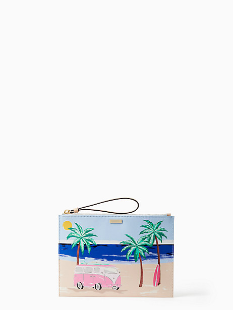 Kate Spade California Dreaming Beach Scene Medium Bella, Blue/Gold