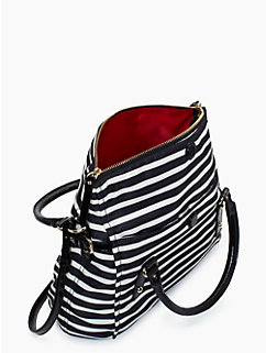 kate spade nylon stripe small leslie
