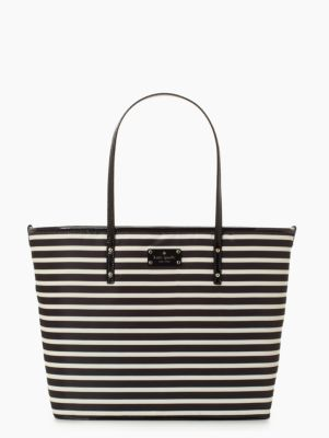 kate spade nylon stripe harmony baby bag