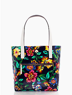 flicker fabric zip bon shopper