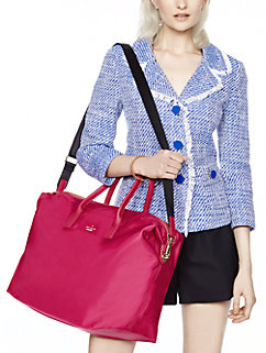 classic nylon lyla weekender by kate spade new york