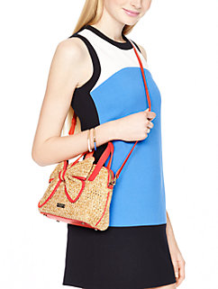 belle place straw small maise by kate spade new york