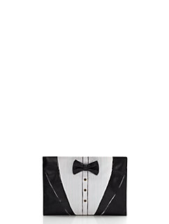 wedding belles tuxedo clutch by kate spade new york