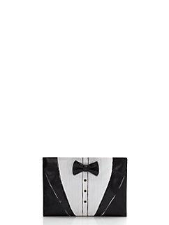 wedding belles tuxedo clutch by kate spade new york