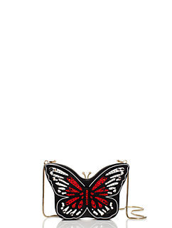 wing it small embellished butterfly clutch by kate spade new york