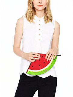 splash out watermelon clutch by kate spade new york