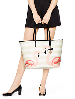 strut your stuff flamingo harmony baby bag by kate spade new york