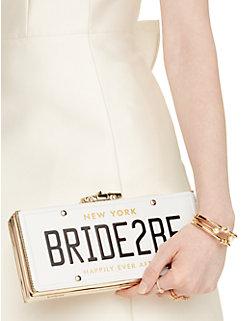 wedding belles bride2be license plate clutch by kate spade new york