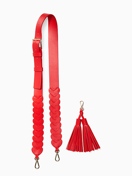 Kate Spade Be Mine Connected Hearts Strap, Rooster Red