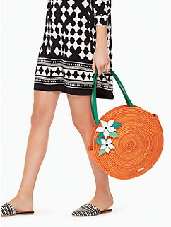 spice things up straw orange tote by kate spade new york
