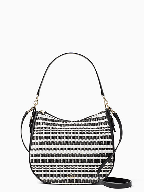 Kate Spade Cobble Hill Straw Mylie, Black/Cement