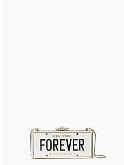 wedding belles license plate clutch by kate spade new york